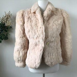 Jackets & Blazers - Rabbit Fur Jacket Coat